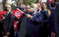 راشد الغنوشي رئيس حركة النهضة الإخوانية في تونس