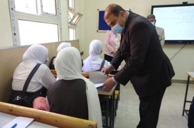 مديرية التعليم تتابع انتظام الدراسة بمدارس مدينة السادات في المنوفية