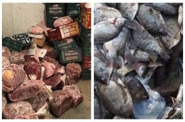 ضبط 30 طن لحوم وأسماك مجمدة فاسدة قبل ترويجها بالأسواق
